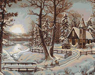 Click for more details of Winter Landscape I (cross stitch) by Luca - S