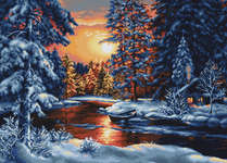 Click for more details of Winter Landscape II (cross stitch) by Luca - S