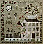 Click for more details of Winter Rose Manor (cross stitch) by With Thy Needle and Thread