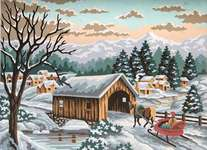 Click for more details of Winter Sleigh (tapestry) by Grafitec