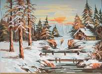 Click for more details of Winter Sunset (tapestry) by Grafitec