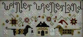 Click for more details of Winter Weinerland (cross stitch) by Plum Street Samplers