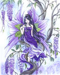 Click for more details of Wisteria Fairy (cross-stitch pattern) by Heaven and Earth Designs