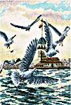 Click for more details of With a Flavour of Salt, Wind and Sun: Seagulls (cross stitch) by RTO