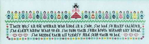 Click for more details of Woman in a Shoe (cross stitch) by Rosewood Manor