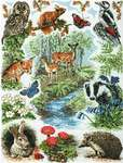 Click for more details of Woodland Sampler (cross stitch) by Anchor