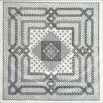 Click for more details of Woven Geometry in Blackwork (blackwork) by Works by ABC