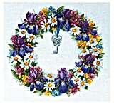 Wreath with Irises