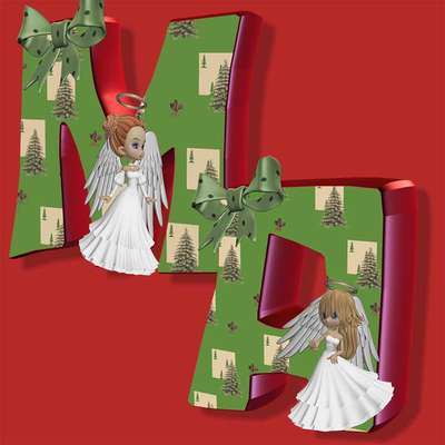 Click for more details of Xmas Fairies Alphabet ..a to m (digital downloads) by DawnsDesigns