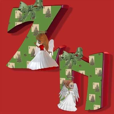 Click for more details of Xmas Fairies Alphabet .n to z (digital downloads) by DawnsDesigns