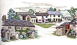 Click for more details of Yorkshire Village (cross stitch) by Rose Swalwell