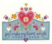 Click for more details of You Make My Heart Smile (cross stitch) by DMC Creative