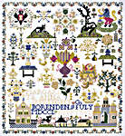 Click for more details of Zeeland 1763 Sampler (cross stitch) by Permin of Copenhagen