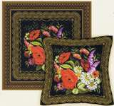 Click for more details of Zhostovo Painting Cushion/Panel (cross stitch) by Riolis