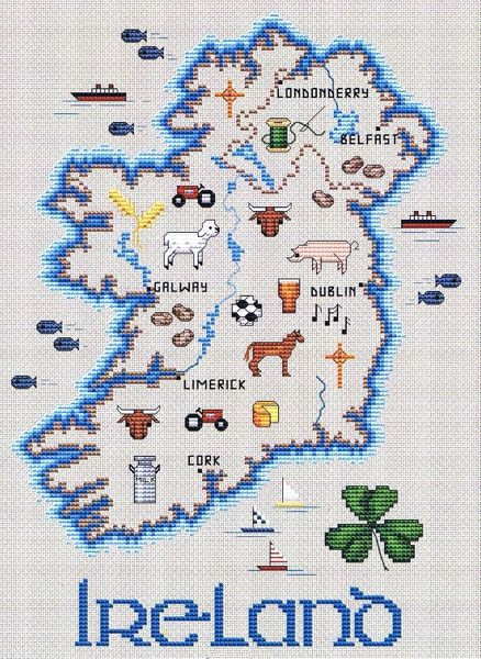 Map Of Ireland With Major Cities.Map Of Ireland