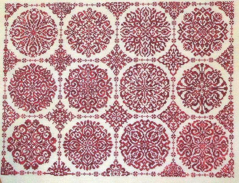rosetta cross stitch pattern by ink circles