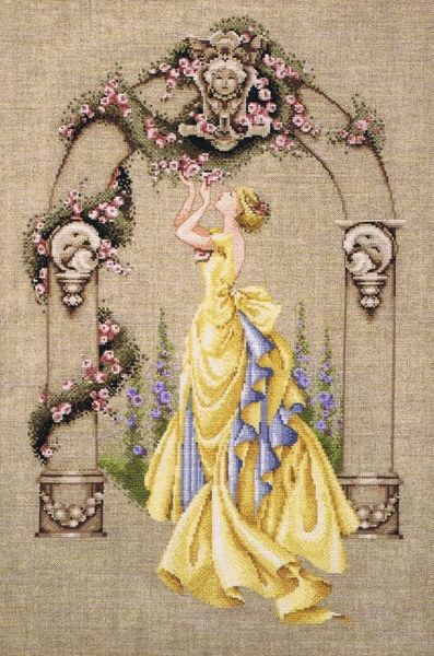 The Rose Of Sharon Cross Stitch Pattern By Mirabilia Designs