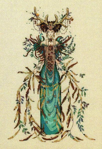 Earth Goddess Cross Stitch Pattern
