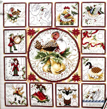 The 12 Days of Christmas with Ornaments - cross stitch pattern by ...