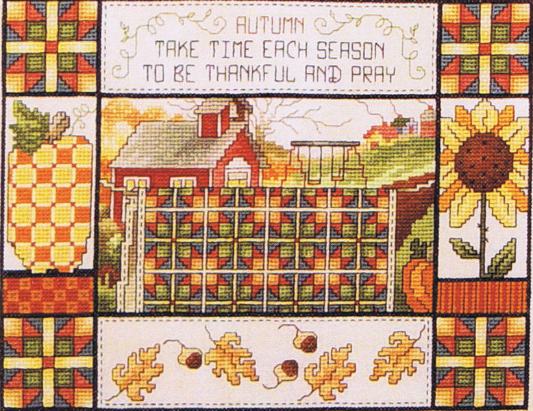 Fall Quilt - cross stitch pattern by Stoney Creek : fall quilt - Adamdwight.com