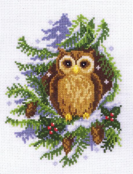 Snowy Owl Cross Stitch Kit By Vervaco