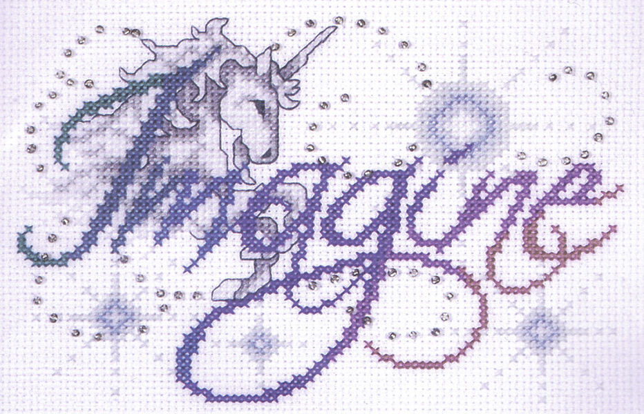 Bothy Threads ~ Counted Cross Stitch Kit ~ Believe in Magic ~ Unicorn