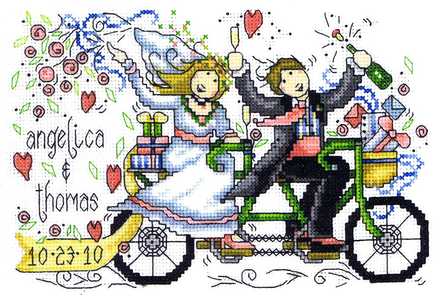 Wedding Ride Cross Stitch Pattern By Imaginating New Cross Stitch Wedding Patterns
