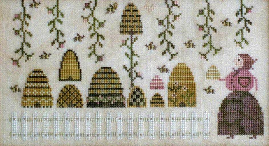 White Pumpkin Farm Plum Street Samplers Cross Stitch Pattern