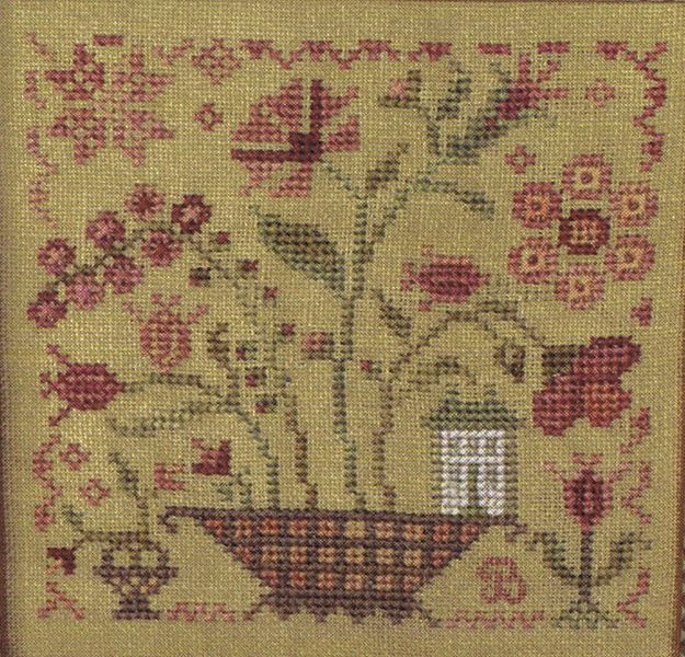 Fairy garden cross stitch pattern by blackbird designs for Blackbird designs tending the garden