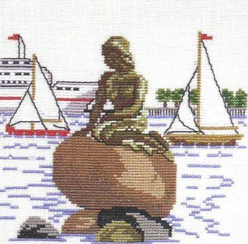 Image result for cross stitch mermaid copenhagen