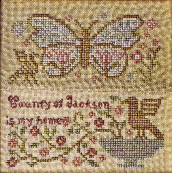E Madame Butterfly Rose Patterned Butterfly Cross Stitch Chart