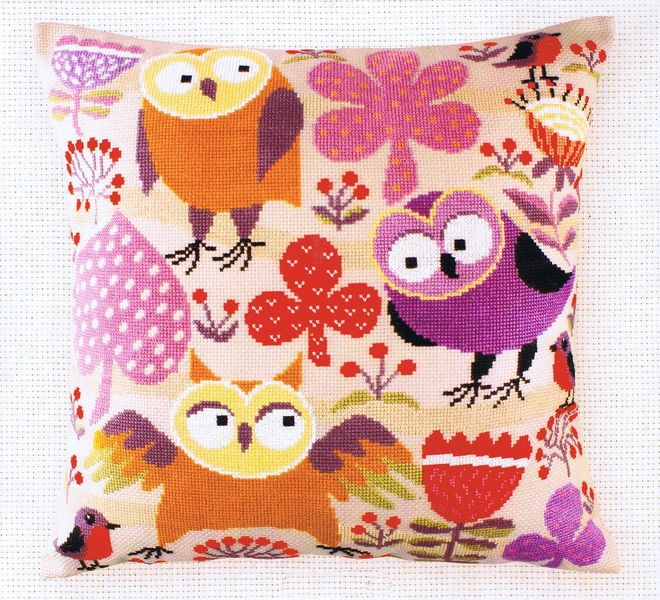 """Counted Cross Stitch Kit RTO CU004 /""""Wise owls/"""""""