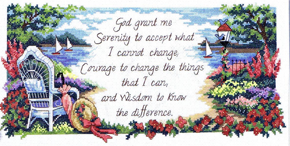 Serenity Prayer Cross Stitch Pattern By Dimensions