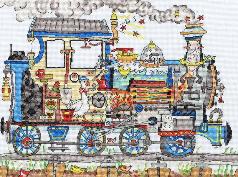 Cut Thru Steam Train Cross Stitch Kit By Bothy Threads