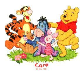 Disney Winnie the Pooh Birth Record Counted Cross Stitch Kit