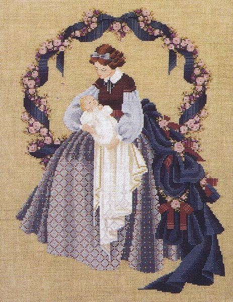 Counted Cross Stitch Pattern Lavender and Lace#3816 Sweet Dreams