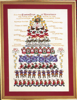 12 Days Of Christmas Cross Stitch.Twelve Days Of Christmas