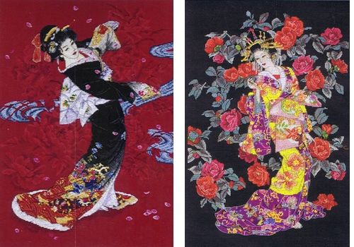 Maia Collection Geishas Counted Cross Stitch Kit ANCHOR