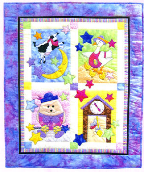 Fairy Tale Baby Quilt - applique pattern by Bobbie G. Designs : baby quilt applique patterns - Adamdwight.com