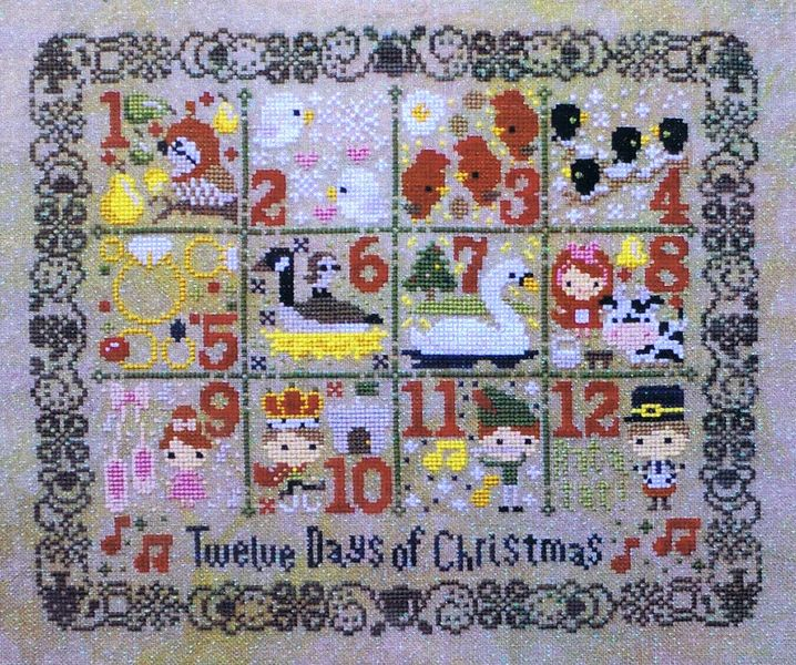 12 Days Of Christmas Cross Stitch.12 Days Of Christmas