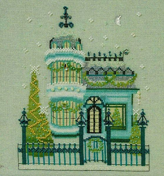 NC279 THE GOTHIC HOUSE By Nora Corbett Complete XStitch Materials