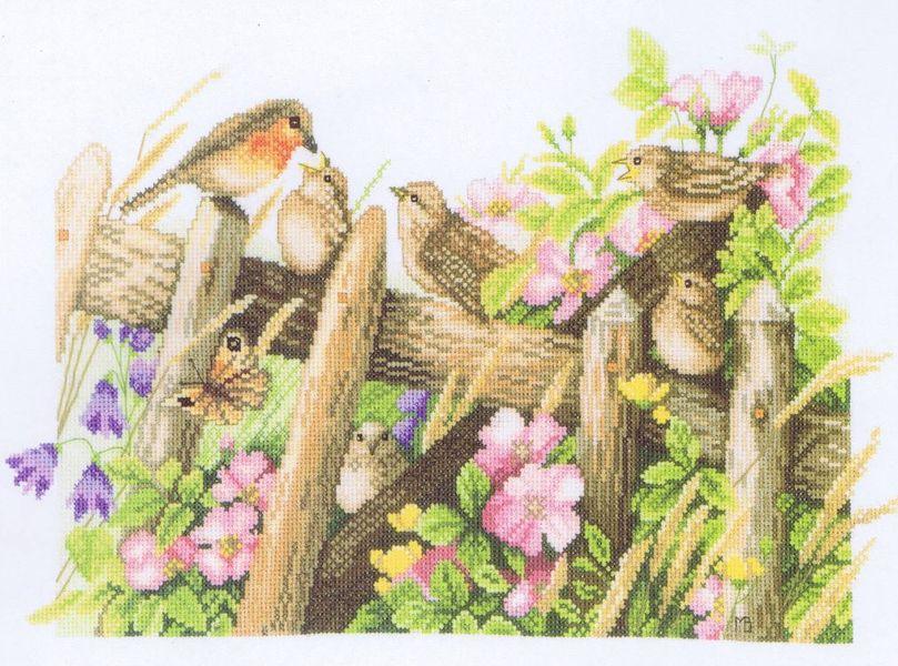 robins - cross stitch kitmarjolein bastin