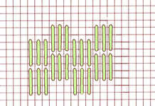 Algerian Filling stitch - click to enlarge
