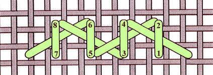 Barred Herringbone stitch