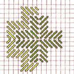 Border Satin Cross stitch