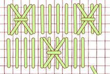 Chessboard stitch