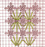 Fan stitch with Double Cross Stitch