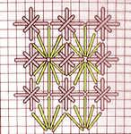 Fan stitch with Double Cross Stitch