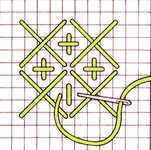 Large and straight cross stitch
