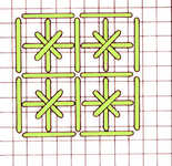Outlined Double cross stitch